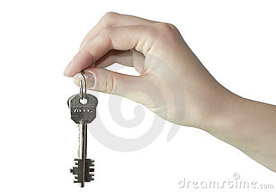 Hand with the key