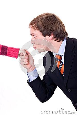 Free Hand Kiss Stock Photo - 1660160