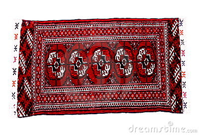 Hand knoted rug from Turkmenistan