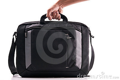Hand with a Laptop Bag