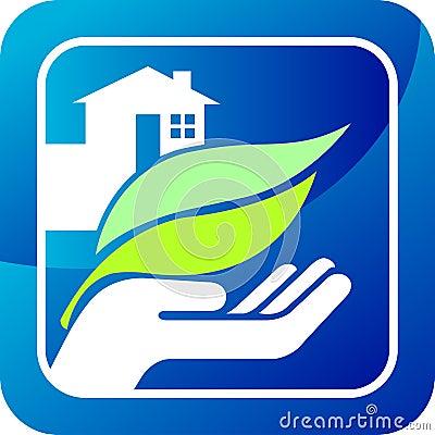 Hand leaf home