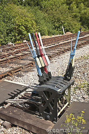 Free Hand Levers For Changing Rail Points Stock Photos - 20233463