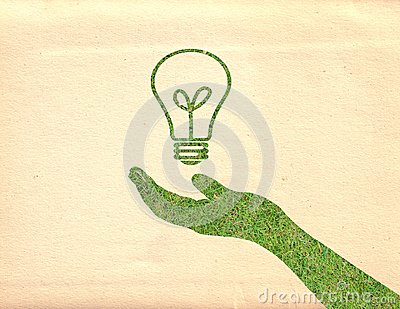 Hand and lightbulb