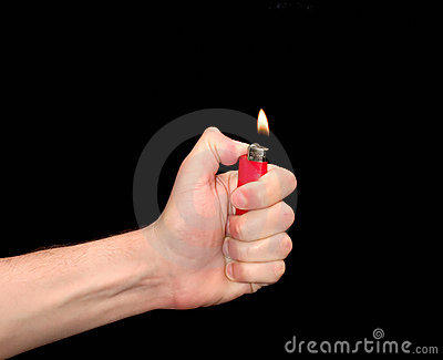 Hand with Lighter