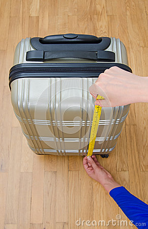 Free Hand Luggage Measurement. Royalty Free Stock Photos - 42954108