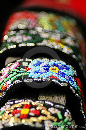 Hand-made beaded jewelry.