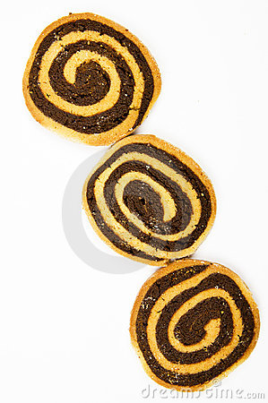 Hand made chocolate swirl cookies