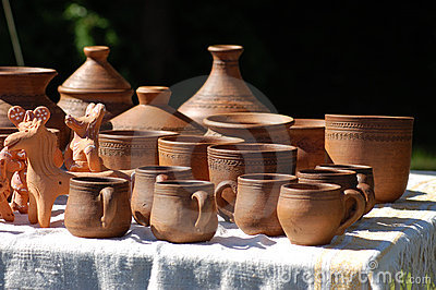 Hand made clay pots