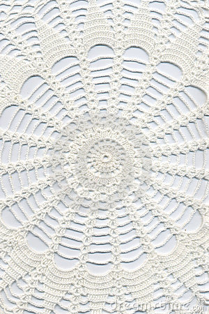 Free Hand Made Crocheted Doily Royalty Free Stock Image - 16182816