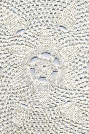 Free Hand Made Crocheted Doily Stock Image - 16182861