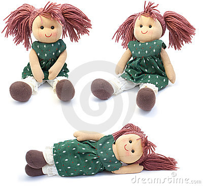 Hand Made Doll. Collage Royalty Free Stock Photos - Image: 20053468