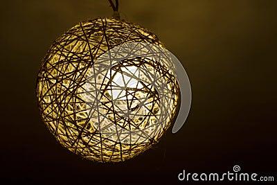 Hand-made lamp