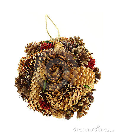 Hand made pine cone Christmas ornament