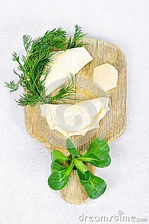 Hand made ravioli