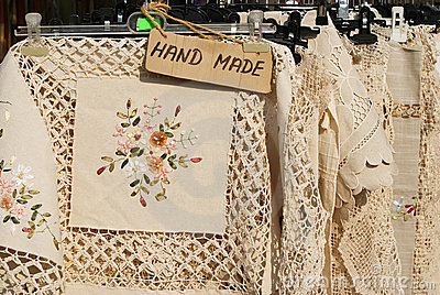 Hand made table cloths