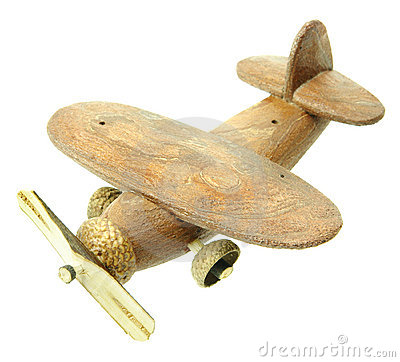 Free Hand-made Toy - Ecological Material - Plane Royalty Free Stock Photos - 12240418