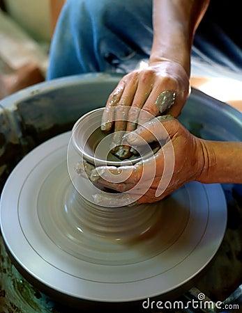 Hand made vase
