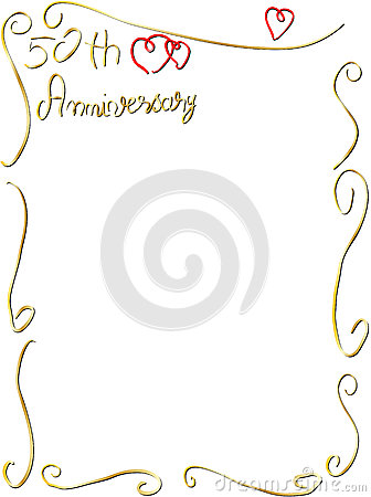 Hand made Wedding anniversary border invitation