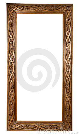 Hand-made wooden frame