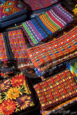 Hand made woven objects guatemala