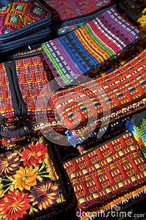 Hand made woven objects guatemala