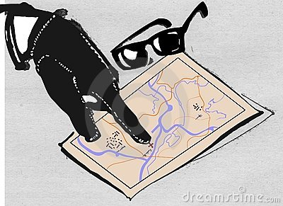Hand of mafia and map