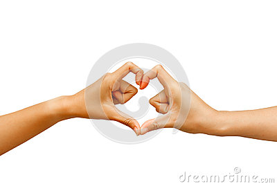 Hand make a heart shape