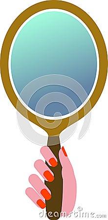 Hand mirror Vector Illustration