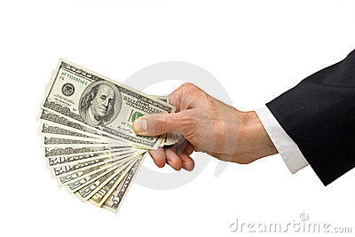Hand Money Give Business Donation