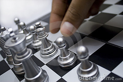 Hand move the chess