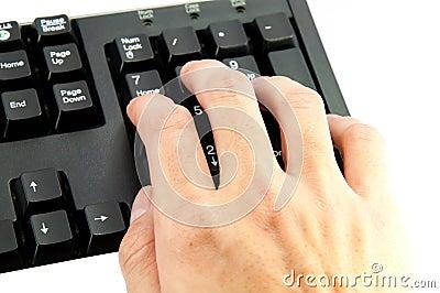 Hand numeric keypad