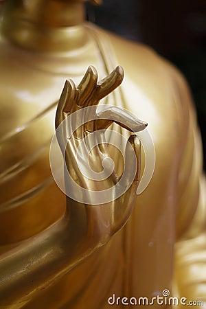 Free Hand Of Buddha Statue Stock Image - 56840681