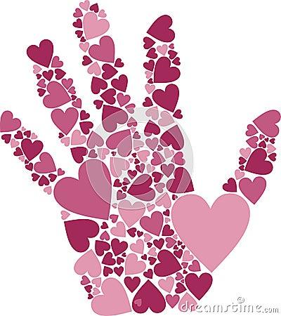 Free Hand Of Hearts Stock Photos - 18067053