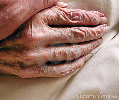Hand of old age