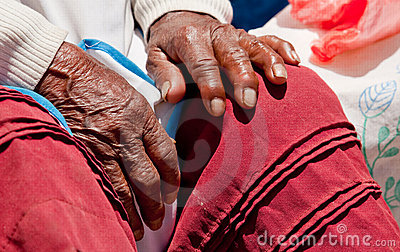Hand, old Woman, Peru
