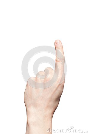 Hand with one counting fingers