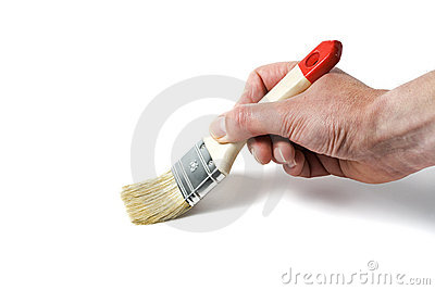Hand with paintbrush