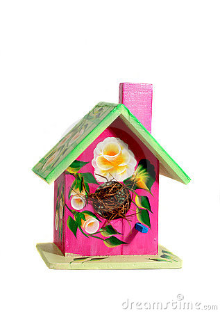 Free Hand Painted Bird House Royalty Free Stock Photo - 2928055