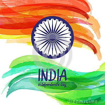 Free Hand-painted Digital Watercolor India Flag. Template For Indian Republic Day And Independence Day. Royalty Free Stock Photos - 97403978