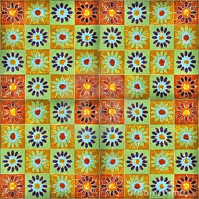 Hand-painted enamel tiles