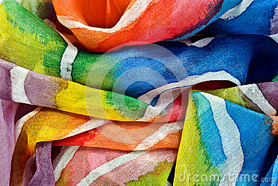 painted silk fabric