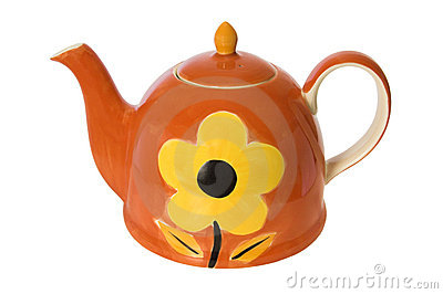 Hand painted teapot