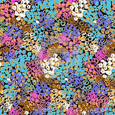 Free Hand Painted Vector Pattern With Splatters Stock Photo - 48010430