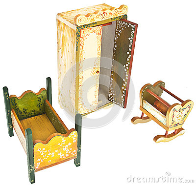 Hand Painted Wood Bedroom Furniture Stock Images Image 28309474