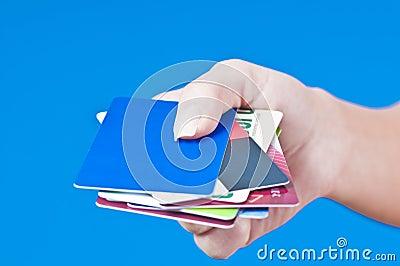 Hand with passports