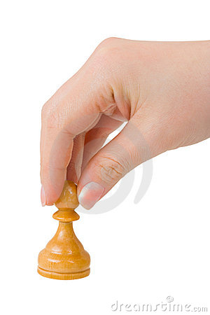 Hand with pawn