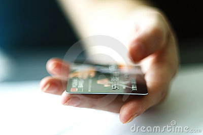 Hand paying with Credit Card