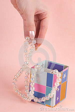 Hand with pearl beads