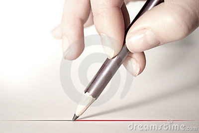 Hand With Pencil