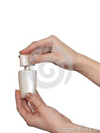 Hand with perfumery